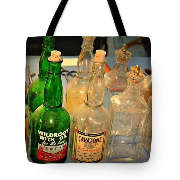 Barber Bottles Tote Bag by Marty Koch