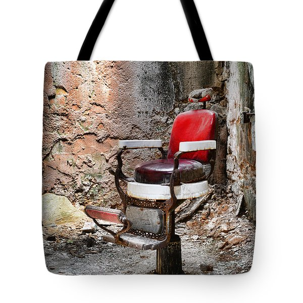 Barber Chair Tote Bag by Paul Ward