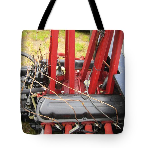 Barbwire Engine Tote Bag by Kym Backland