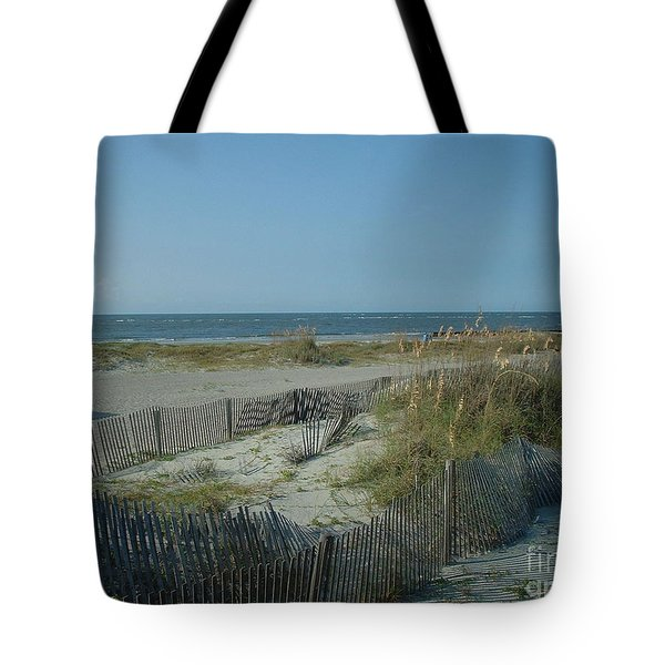 Barely Fenced Tote Bag by Mark Robbins