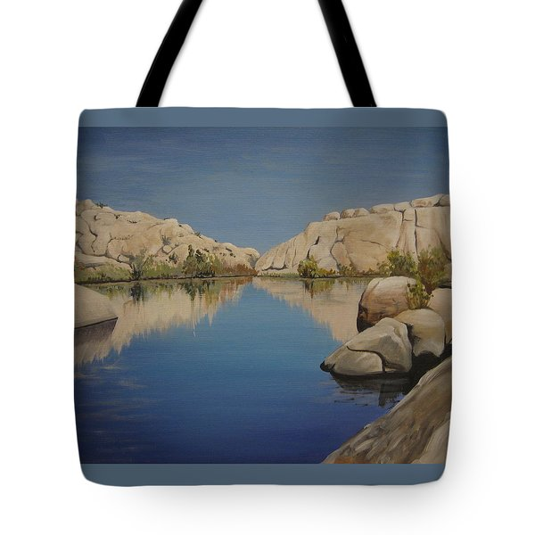 Barker Dam Tote Bag by Barbara Prestridge