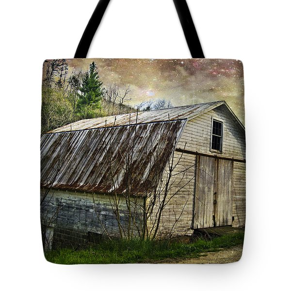 Barn At Twilight Tote Bag