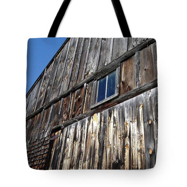 Barn End Looking Up Tote Bag