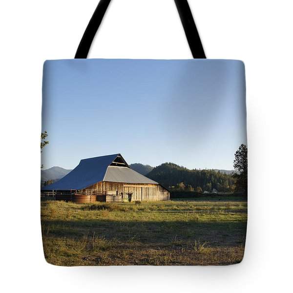 Barn In The Applegate Tote Bag by Mick Anderson