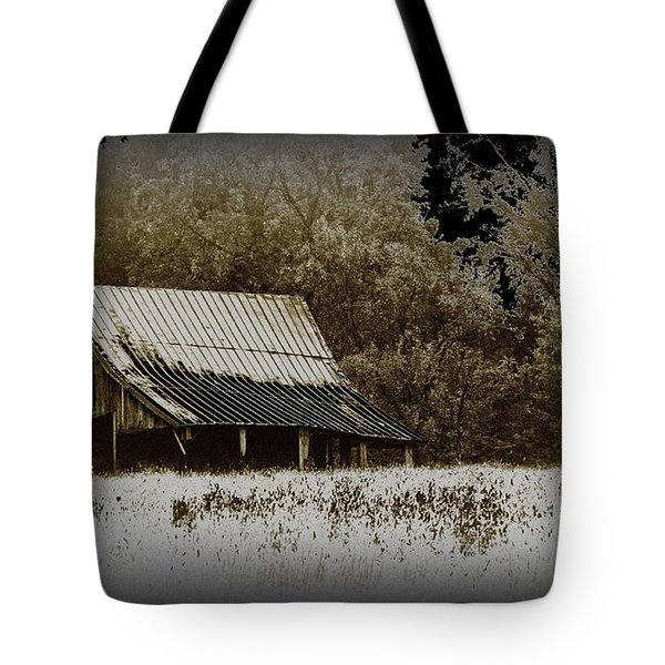 Barn In The Field Tote Bag by Travis Truelove