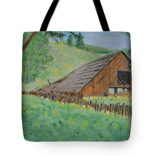 Barn On Hiway 20 Tote Bag by Mick Anderson