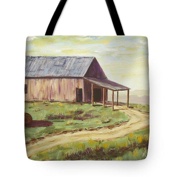 Barn On The Ridge Tote Bag