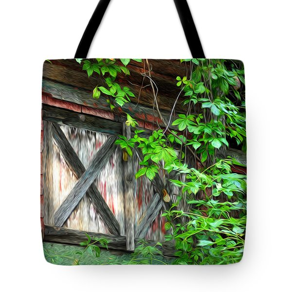 Barn Window Tote Bag by Bill Cannon