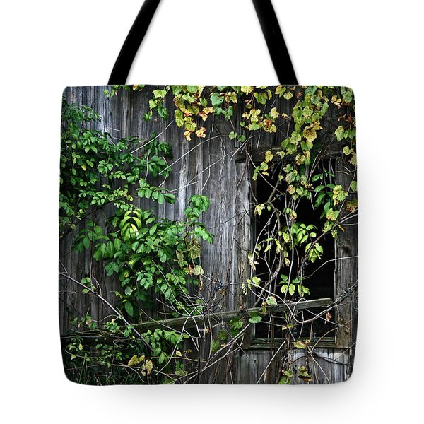 Barn Window Vine Tote Bag