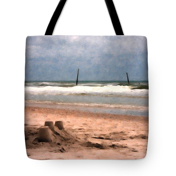 Barnacle Bill's And The Sandcastle Tote Bag by Betsy Knapp