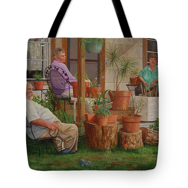 Tote Bag featuring the painting Baron's Estate by AnnaJo Vahle