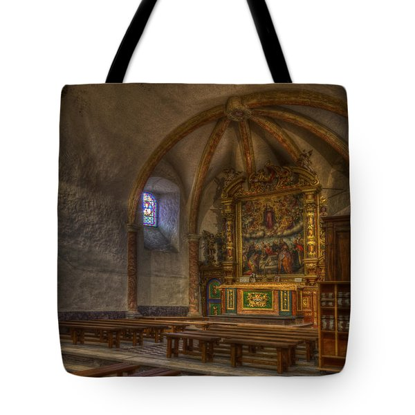 Baroque Church In Savoire France 3 Tote Bag