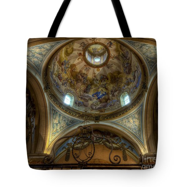 Baroque Church In Savoire France 5 Tote Bag