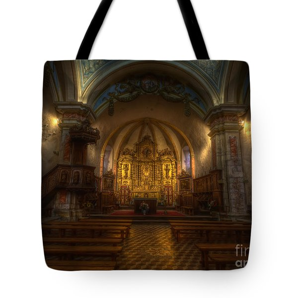 Baroque Church In Savoire France Tote Bag