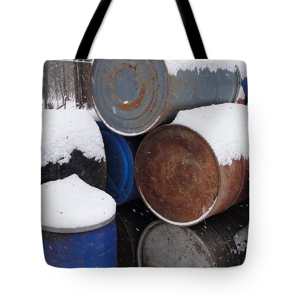 Tote Bag featuring the photograph Barrel Of Food by Tiffany Erdman