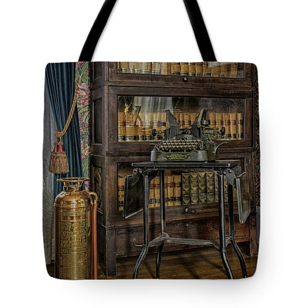 Barrister's Home Office Tote Bag by Lynn Palmer