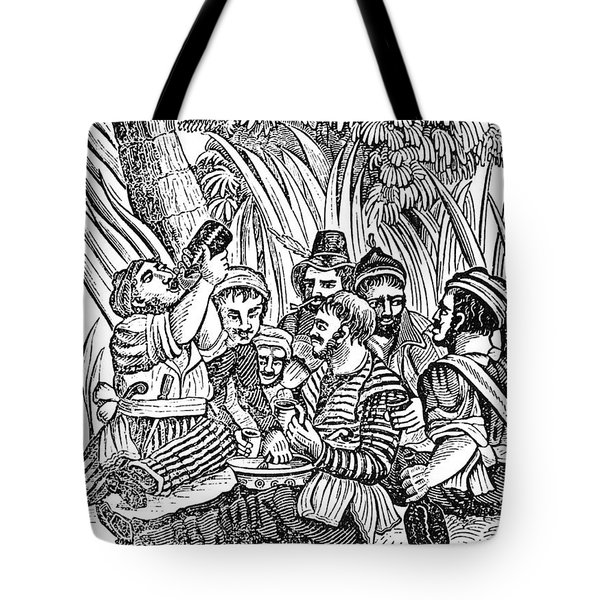Bartholmew Roberts And Crew Drinking Tote Bag by Photo Researchers