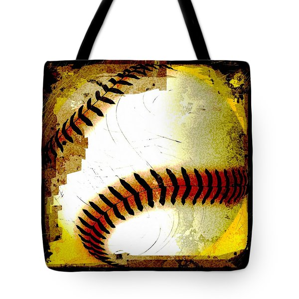 Baseball Abstract Tote Bag by David G Paul