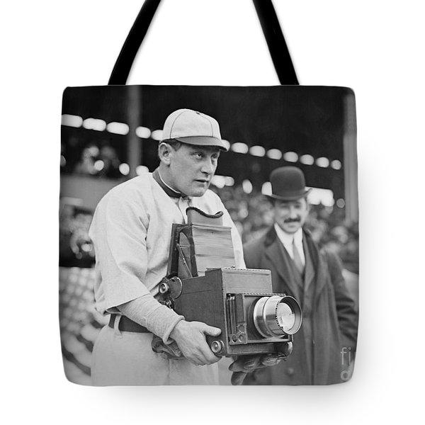 Baseball: Camera, C1911 Tote Bag by Granger