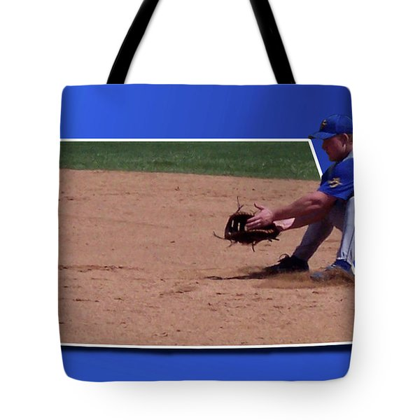 Baseball Hot Grounder Tote Bag by Thomas Woolworth