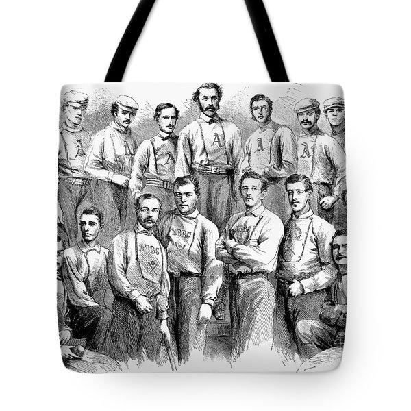 Baseball Teams, 1866 Tote Bag by Granger
