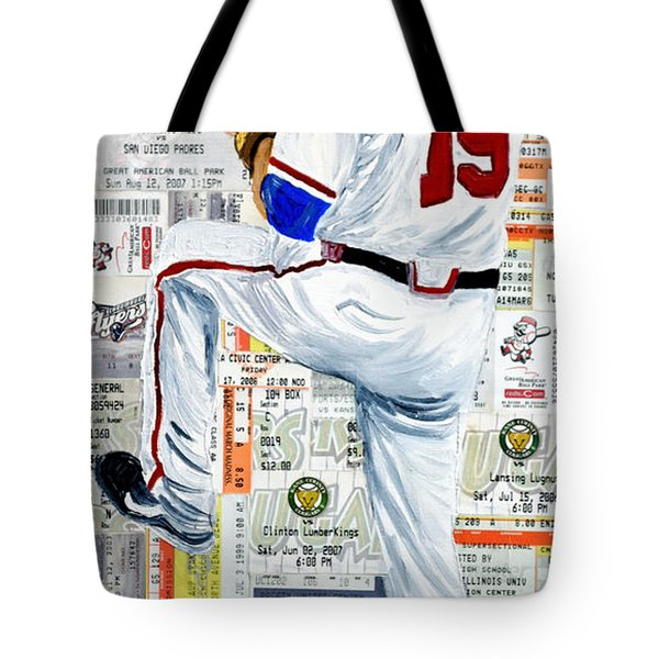 Baseball Tickets Tote Bag by Michael Lee