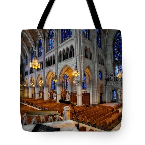 Basilica Of The Sacred Heart Tote Bag by Susan Candelario