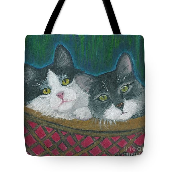 Basket Of Kitties Tote Bag