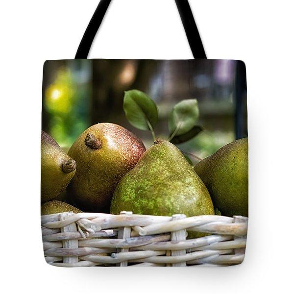 Basket Of Pears Tote Bag