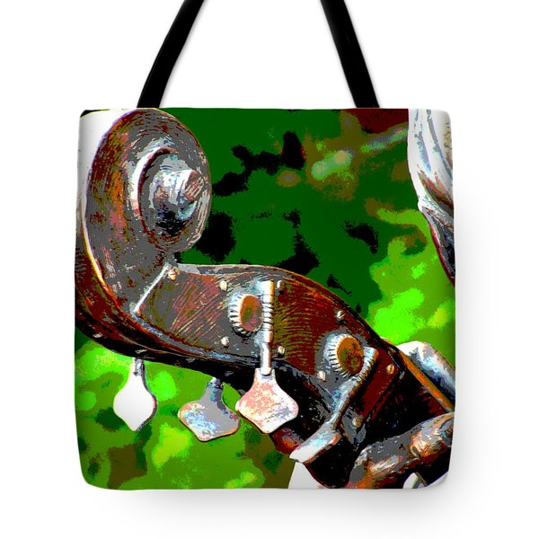 Bass Fiddle Tote Bag by Charlie and Norma Brock