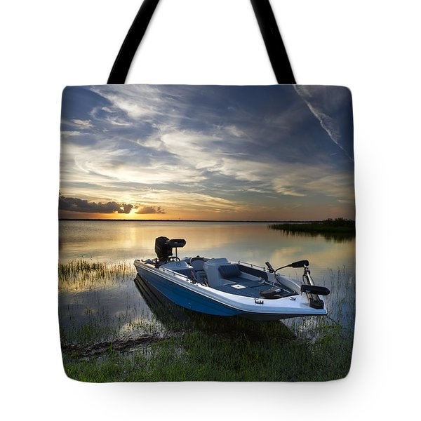 Bass Fishin' Evening Tote Bag by Debra and Dave Vanderlaan