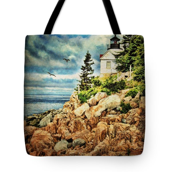 Bass Harbor - Acadia Np Tote Bag by Lianne Schneider