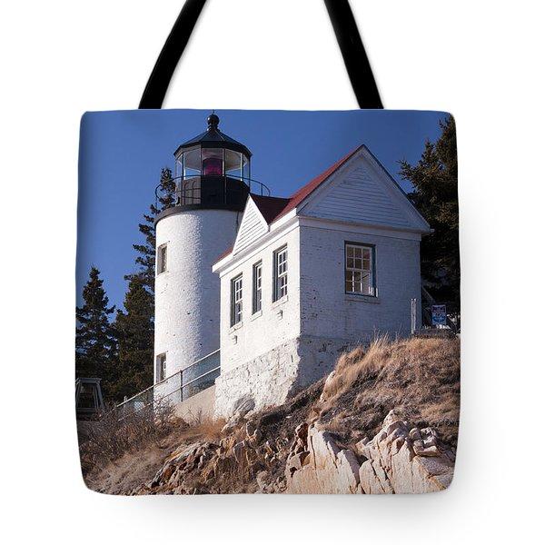 Bass Harbor Lighthouse Acadia National Park Tote Bag by Glenn Gordon