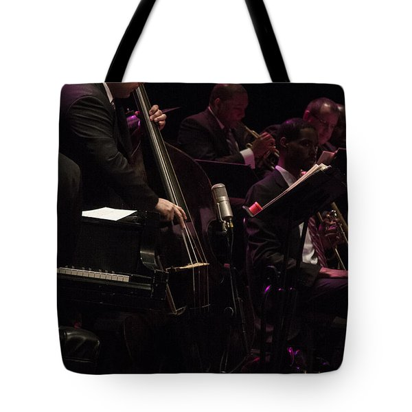 Bass Player Jams Jazz Tote Bag