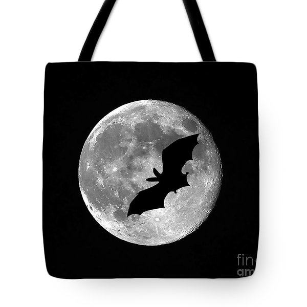 Bat Moon Tote Bag by Al Powell Photography USA