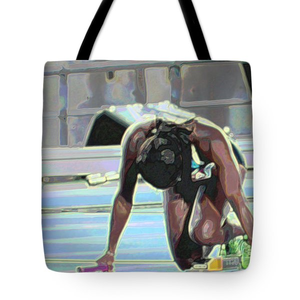 Tote Bag featuring the mixed media Baton by Terence Morrissey