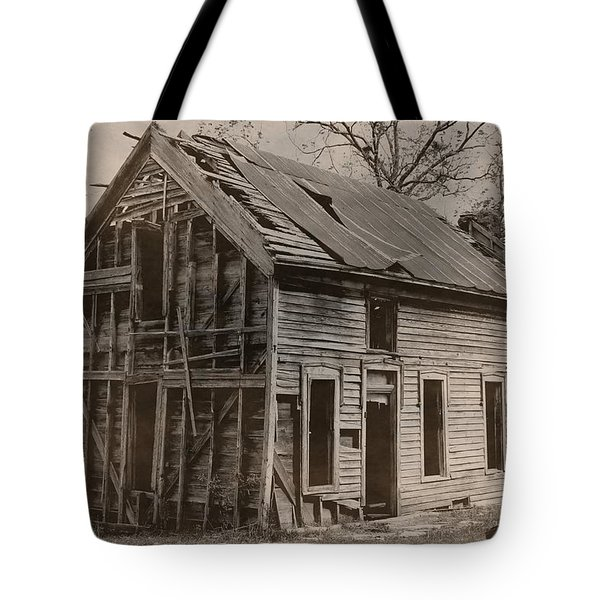 Battered And Leaning Tote Bag