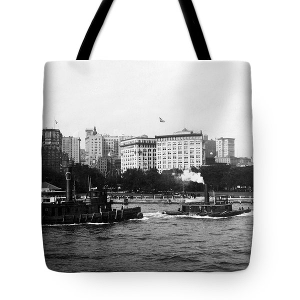 Battery Park And Lower Manhattan New York City - C 1904 Tote Bag by International  Images