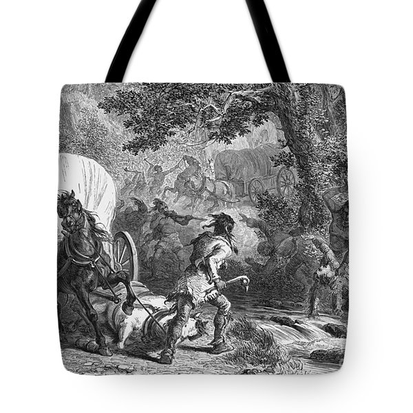 Battle Of Bloody Brook 1675 Tote Bag by Photo Researchers