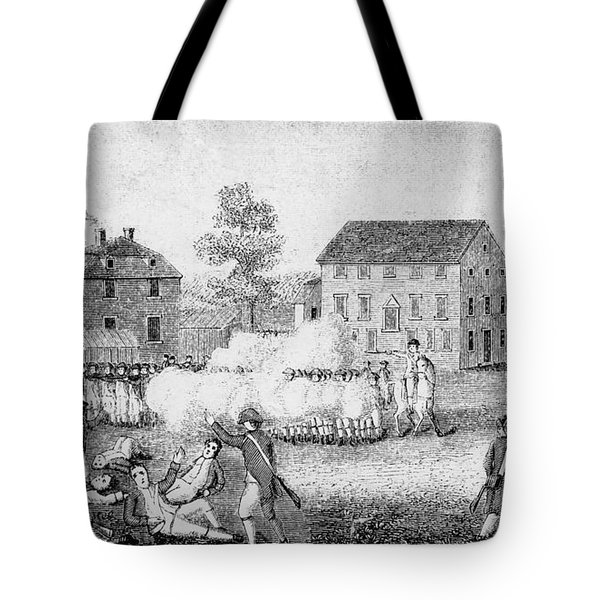 Battle Of Lexington, 1775 Tote Bag by Photo Researchers