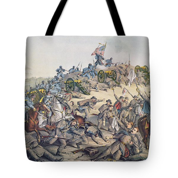 Battle Of Nashville December 15-16th 1864 Tote Bag by American School