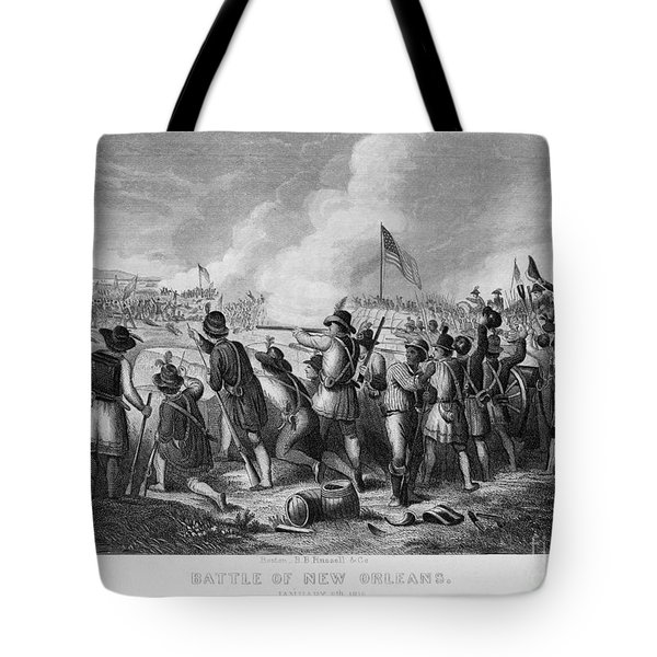 Battle Of New Orleans Tote Bag by Granger