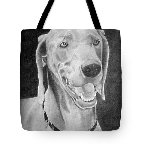 Tote Bag featuring the drawing Baxter by Ana Tirolese