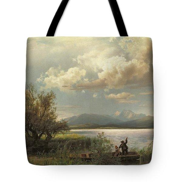 Bayern Landscape Tote Bag by Augustus Wilhelm Leu