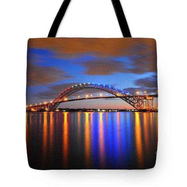 Bayonne Bridge Tote Bag by Paul Ward