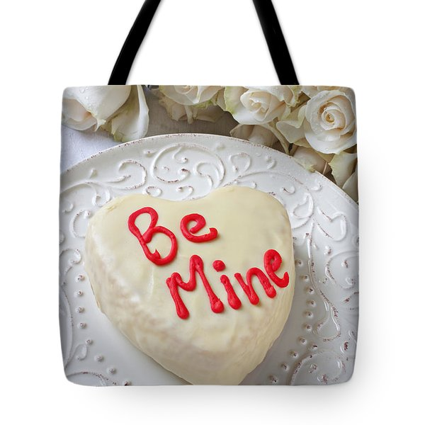 Be Mine Heart Cake Tote Bag by Garry Gay
