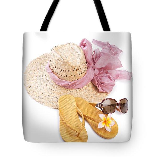 Beach Accessories Tote Bag by Atiketta Sangasaeng