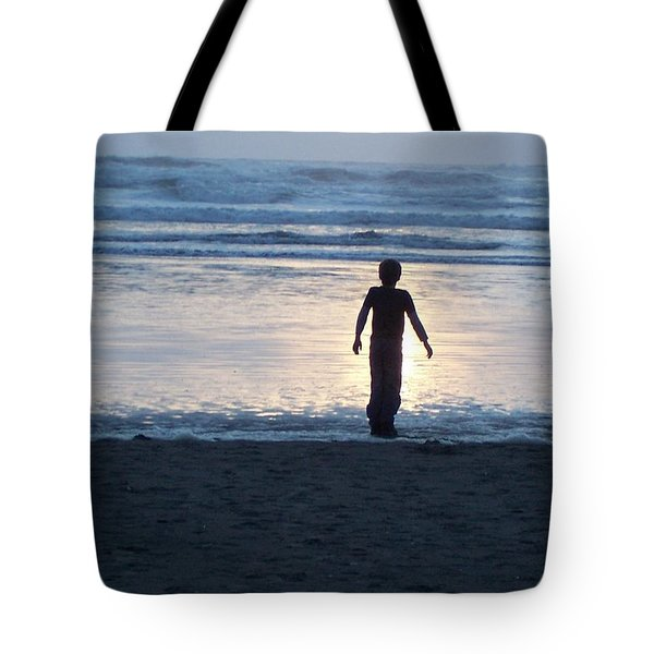 Beach Boy Silhouette Tote Bag by Peter Mooyman