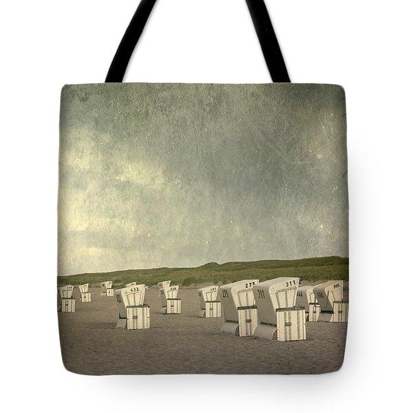 Beach Chairs Tote Bag by Joana Kruse