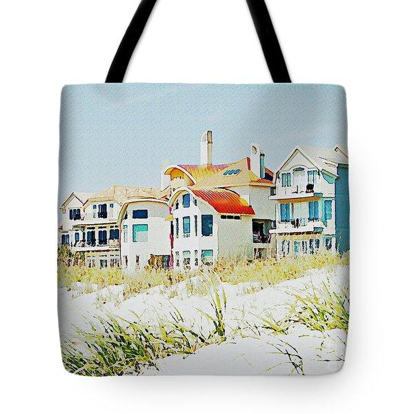 Beach House Tote Bag by Carol  Bradley